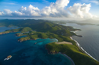 The island of St. John<br /> looking east to west<br /> US Virgin Islands<br /> Caribbean