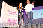 Kerry Students take a walk down Electric Avenue with EirGrid at Siamsa Tire on Tuesday, Part of Engineering Week. Pictured Roisin Curran from Presentation using pedal power to make electricity with Gavin Harte