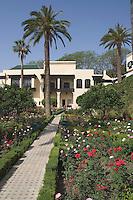 Afrique/Afrique du Nord/Maroc/Fèz: Hotel Palais Jamai détail des jardins