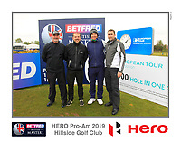 Dean Burmester (RSA) on the 10th tee during the Pro-Am of the Betfred British Masters 2019 at Hillside Golf Club, Southport, Lancashire, England. 08/05/19<br /> <br /> Picture: Thos Caffrey / Golffile<br /> <br /> All photos usage must carry mandatory copyright credit (© Golffile | Thos Caffrey)