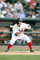 Great Lakes Loons Bryant Hernandez (13) at Dow Diamond in Midland, MI. The Loons are the Midwest League affiliate of the Los Angeles Dodgers. July 8, 2010. Photo By Chris Proctor/Four Seam Images