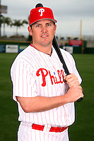 February 24, 2010:  Infielder Andy Tracy (33) of the Philadelphia Phillies poses during photo day at Bright House Field in Clearwater, FL.  Photo By Mike Janes/Four Seam Images
