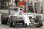 22.02.2016 Circuit Barcelona-Catalunya, Barcelona, Spain. Formula 1 test days. Picture show Valtteri Bottas driving FW38 Williams Martini Racing