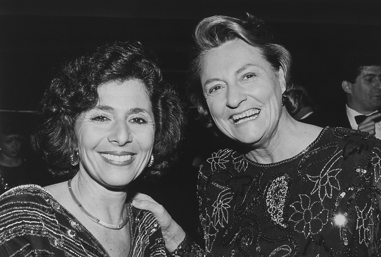 Rep. Barbara Boxer, D-Calif., and Rep. Barbara B. Kennelly, D-Conn., at the 26th Annual Democratic Congressional Dinner, on April 29, 1991. (Photo by Maureen Keating/CQ Roll Call via Getty Images)