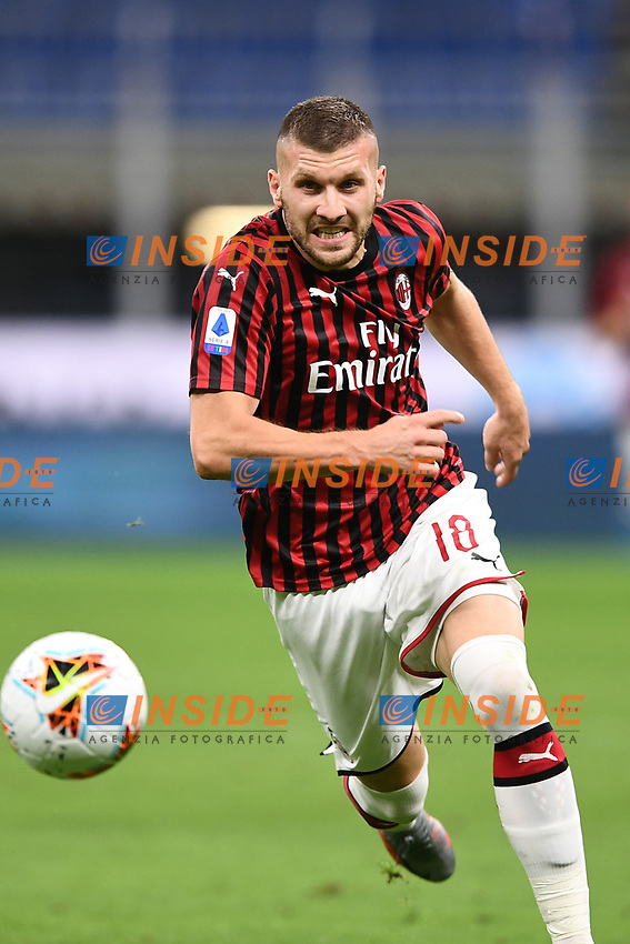 Ante Rebic of AC Milan in action during the Serie A football match between AC Milan and Atalanta BC at stadio Giuseppe Meazza in Milano ( Italy ), July 24th, 2020. Play resumes behind closed doors following the outbreak of the coronavirus disease. <br /> Photo Image Sport / Insidefoto