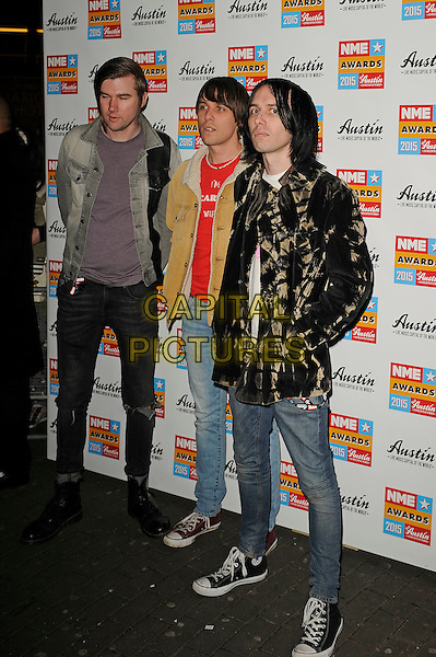 LONDON, ENGLAND - FEBRUARY 18: Cribs attending the NME Awards at Brixton Academy on February 18 2015 in London, England.<br /> CAP/MAR<br /> &copy; Martin Harris/Capital Pictures