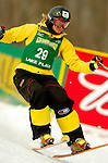 15 January 2005 - Lake Placid, New York, USA - Jenny Kittstein representing Germany, competes in the FIS World Cup Ladies' Moguls Freestyle ski competition, ranking 23rd for the day, at Whiteface Mountain, Lake Placid, NY. ..Mandatory Credit: Ed Wolfstein Photo.