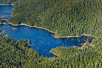 Aerial of Revillagigedo Island, Tongass National Forest, southeast, Alaska.