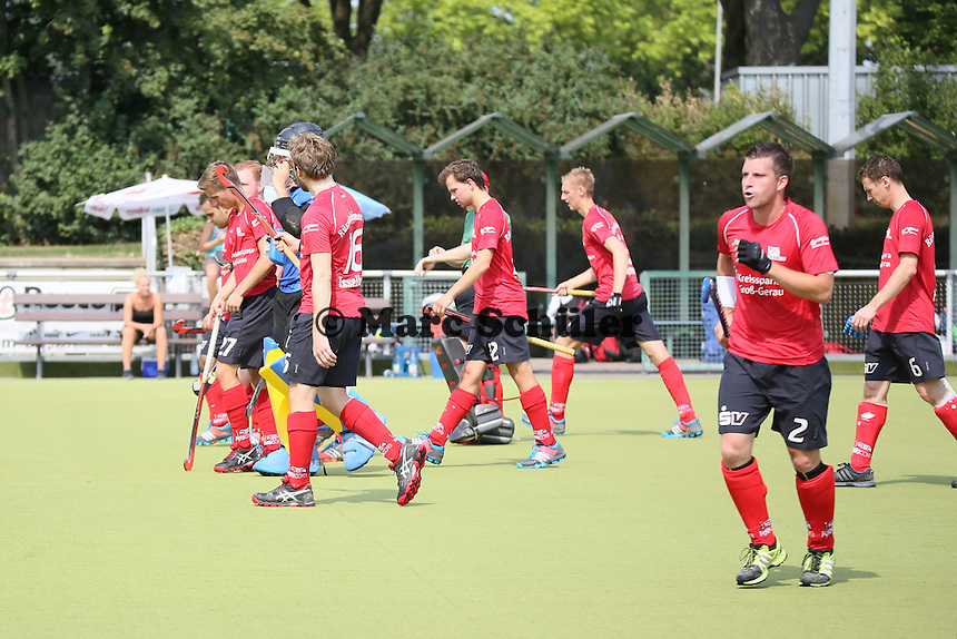 Rüsselsheim konzentriert vor dem Spiel - Rüsselsheimer RK vs. 1. Hanauer THC