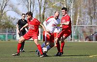 Nick Hölzel (Büttelborn) setzt sich durch - 07.04.2019: SKV Büttelborn vs. TSV Lengfeld, Gruppenliga Darmstadt