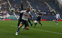 Preston North End's Tom Clarke shields the ball from Newcastle United's Ronaldo Aarons<br /> <br /> Photographer Stephen White/CameraSport<br /> <br /> Football Pre-Season Friendly - Preston North End v Newcastle United - Saturday July 27th 2019 - Deepdale Stadium - Preston<br /> <br /> World Copyright © 2019 CameraSport. All rights reserved. 43 Linden Ave. Countesthorpe. Leicester. England. LE8 5PG - Tel: +44 (0) 116 277 4147 - admin@camerasport.com - www.camerasport.com
