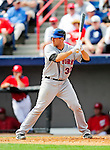 1 March 2011: New York Mets' catcher Josh Thole in action during a Spring Training game against the Washington Nationals at Space Coast Stadium in Viera, Florida. The Nationals defeated the Mets 5-3 in Grapefruit League action. Mandatory Credit: Ed Wolfstein Photo