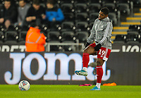29th November 2019; Liberty Stadium, Swansea, Glamorgan, Wales; English Football League Championship, Swansea City versus Fulham; Ivan Cavaleiro of Fulham warms up before the match  - Strictly Editorial Use Only. No use with unauthorized audio, video, data, fixture lists, club/league logos or 'live' services. Online in-match use limited to 120 images, no video emulation. No use in betting, games or single club/league/player publications