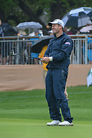 Padraig Harrington (IRL) barely misses his birdie putt on 18 during day 3 of the Valero Texas Open, at the TPC San Antonio Oaks Course, San Antonio, Texas, USA. 4/6/2019.<br /> Picture: Golffile | Ken Murray<br /> <br /> <br /> All photo usage must carry mandatory copyright credit (&copy; Golffile | Ken Murray)