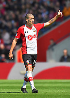 Southampton's Oriol Romeu<br /> <br /> Photographer David Horton/CameraSport<br /> <br /> The Premier League - Southampton v Chelsea - Saturday 14th April2018 - St Mary's Stadium - Southampton<br /> <br /> World Copyright &copy; 2018 CameraSport. All rights reserved. 43 Linden Ave. Countesthorpe. Leicester. England. LE8 5PG - Tel: +44 (0) 116 277 4147 - admin@camerasport.com - www.camerasport.com