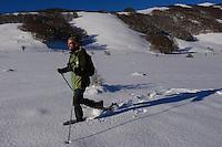 Snowshoeing, Deli Saavedra, Rewilding Europe, Central Apennines, Italy