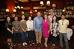 Qianda Rao, Zhiyong Liu, Zhenzhu Ma, Yanping Ma, Stewart Lane, Bonnie Comley, Austin Shaw, Xuejiao Bai and Wen Chen attend Central Academy of Drama: Professors Visit Sardi's on September 24, 2017 at the Drama League Center  in New York City.