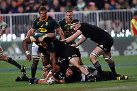 Action from the Rugby Championship match between the New Zealand All Blacks and South Africa Springboks at QBE Stadium in Albany, Auckland, New Zealand on Saturday, 16 September 2017. Photo: Shane Wenzlick / lintottphoto.co.nz