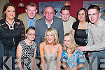 21ST: Fiona OConnell of Caherslee (seated centre) having a lovely evening on her 21st birthday along with family in Kirbys Brogue Inn, Tralee, on Saturday. Front l-r: Denise, Fiona and Siobhan OConnell. Back l-r: Carmel, Alan, John, Declan and Susan OConnell and Nigel Grey..