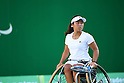 Yui Kamiji (JPN), <br /> SEPTEMBER 12, 2016 - Wheelchair Tennis : <br /> Women's Singles Quarter Final Marjolein Buis 0-2 Yui Kamiji <br /> at Olympic Tennis Centre<br /> during the Rio 2016 Paralympic Games in Rio de Janeiro, Brazil.<br /> (Photo by AFLO SPORT)