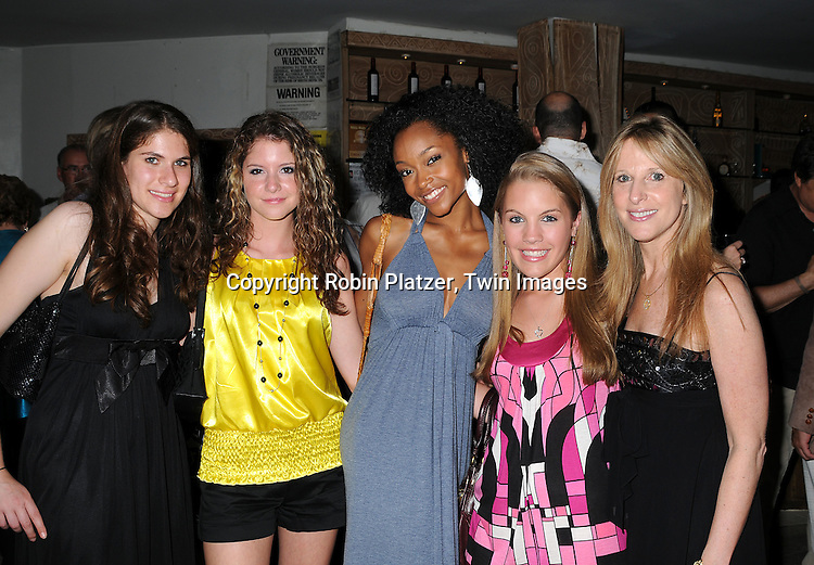 Marcia's Niece, Brittany Underwood, Yaya DaCosta and Kristen Alderson and Marcia Tovsky.at The 19th Annual Marcia Tovsky Pre-Daytime Emmy Party on June 11, 2008 at Nikki Midtown in New York City. ..Robin Platzer, Twin Images