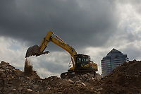 More Liberty Warehouse demolition Durham, North Carolina on Monday, October 13, 2014. (Justin Cook)
