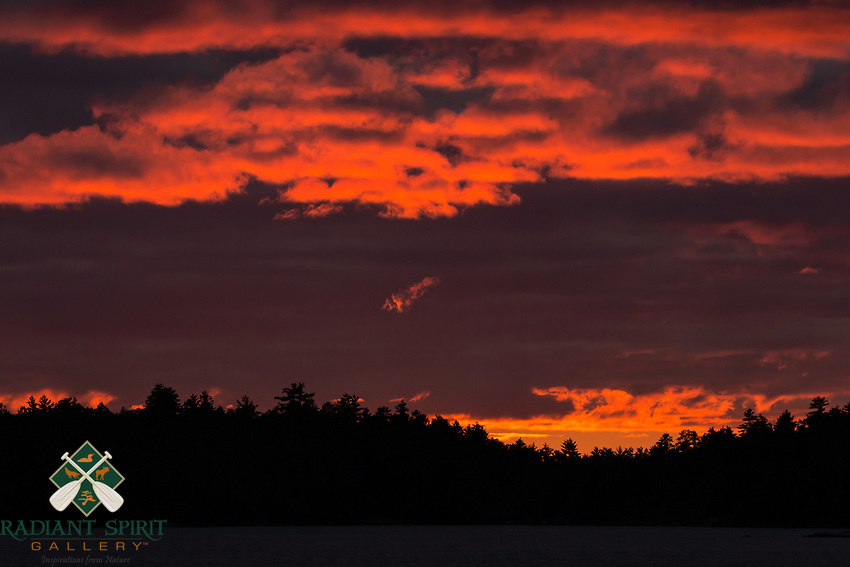 &quot;Burning Sunset on Crooked Lake&quot;<br />