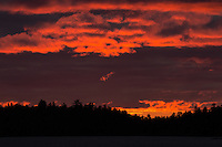 """Burning Sunset on Crooked Lake""<br />