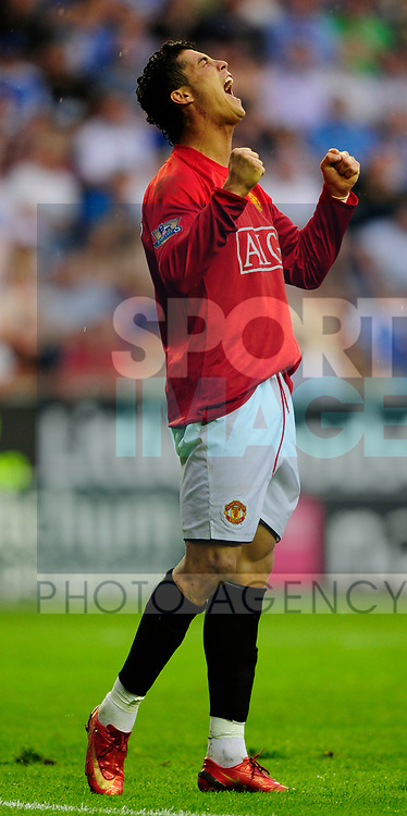 Manchester United's Cristiano Ronaldo during the Premier League match at The JJB Stadium, Wigan. Picture date 11th May 2008. Picture credit should read: Simon Bellis/Sportimage
