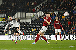 Wayne Rooney of Derby County firs in a shot on goal during the FA Cup match at the Pride Park Stadium, Derby. Picture date: 4th February 2020. Picture credit should read: Darren Staples/Sportimage