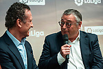 Jorge Valdano and Michael Robinson during the presentation of the strategic alliance between Movistar and Laliga<br /> October 4, 2019. <br /> (ALTERPHOTOS/David Jar)