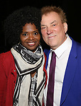 LaChanze and Des McAnuff during the Opening Night Actors' Equity Gypsy Robe Ceremony honoring  Afra Hines for 'Summer:The Donna Summer Musical at Lunt-Fontanne Theatre on April 23, 2018 in New York City.