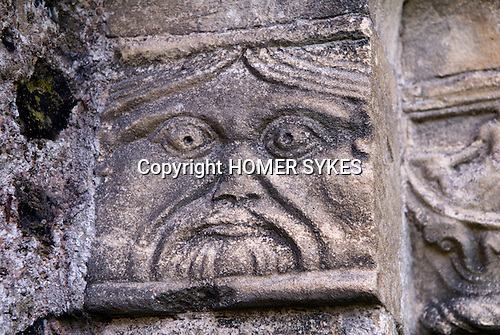 Barfrestone or Barfreston St Nicholas Church Kent. Carving date from late 12th centuary.  UK.