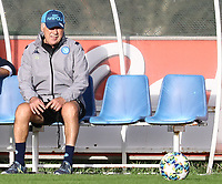 4th November 2019; Castelvolturno training center , Campania, Italy; UEFA Champions League Group Stage Football, Napoli versus Red Bull Salzburg, Napoli Training: Carlo Ancelotti coach of Naples - Editorial Use