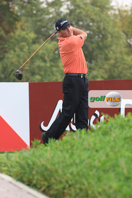 Thomas Lavet Teeing off on the 11th on day 3 of the Abu Dhabi HSBC Golf Championship 2011, at the Abu Dhabi golf club, UAE. 22/1/11..Picture Fran Caffrey/www.golffile.ie.