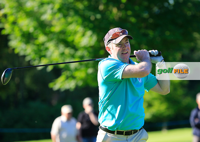 Simon Thornton (IRL) team during Wednesday's Pro-Am of the 2014 Irish Open held at Fota Island Resort, Cork, Ireland. 18th June 2014.<br /> Picture: Eoin Clarke www.golffile.ie