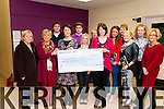Cheque Presentation : Pictured at the presentation of a cheque for €18,000, the proceeds of a Strickly Come Dancing event, to the mamagement of Kerry Parents & Friends Centre, Listowel on Friday night last were Mary Browne, Margaret McAulliffe, Bernie Daly, Niamh Walsh, Margaret Boyce, Annette O'Donnell & Eilish Stack. Back : Sean McMahon, Aidan Daly, Mary Whelan, Claire O'Connor, Mary Keane & Mags Horgan.