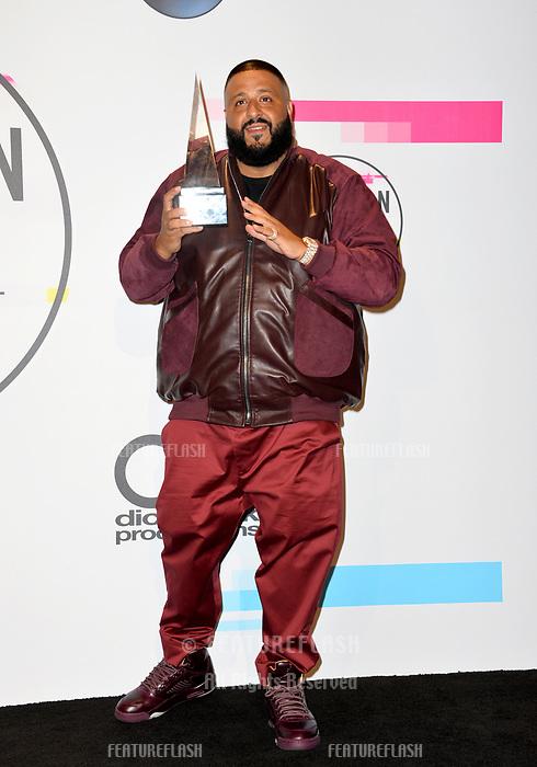 DJ Khaled at the 2017 American Music Awards at the Microsoft Theatre LA Live, Los Angeles, USA 19 Nov. 2017<br /> Picture: Paul Smith/Featureflash/SilverHub 0208 004 5359 sales@silverhubmedia.com