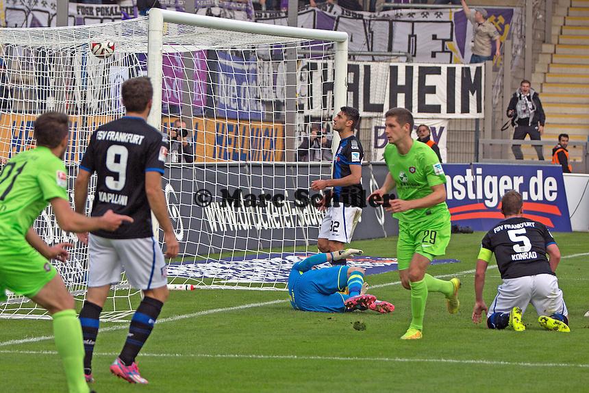 Tor zum 1:1 - FSV Frankfurt vs. FC Erzgebirge Aue, Frankfurter Volksbank Stadion