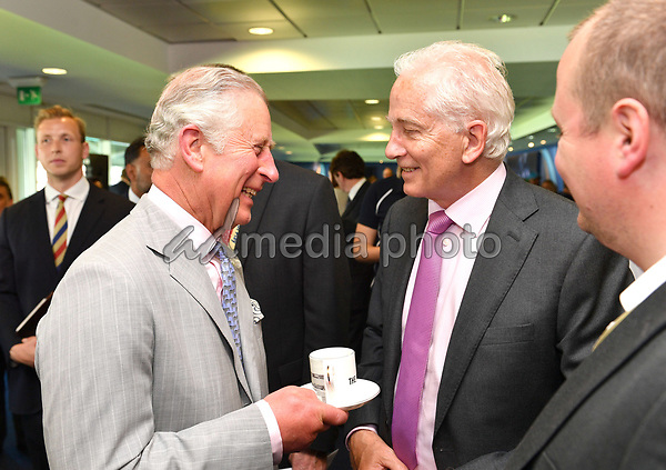 25 May 2017 - Prince Charles and David Gower. Prince Charles launches the ICC Champions Trophy at The Oval London. Photo Credit: ALPR/AdMedia