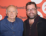 Terrence McNally and Peter Dubois attends the 'Lips Together Teeth Apart' Meet and Greet at Second Stage Theatre on September 25, 2014 in New York City.