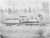 Engineer's-side view of D&amp;RG Mogul #11 &quot;Cucharas&quot; posing with her crew somewhere along the line.<br /> D&amp;RG    1873-1882