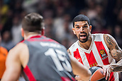 9th February 2018, Aleksandar Nikolic Hall, Belgrade, Serbia; Euroleague Basketball, Crvenz Zvezda mts Belgrade versus AX Armani Exchange Olimpia Milan; Guard James Feldeine of Crvena Zvezda mts Belgrade drives to the basket