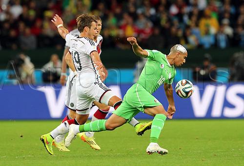 30.06.2014. Porto Alegre, Brazil. World Cup 2nd Round. Germany versus Algeria. Feghouli pressed by Goetze