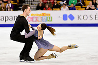 Thursday, March 31, 2016: Natalia Kaliszek and Maksim Spodirev (POL) compete in the Free Dance program at the International Skating Union World Championship held at TD Garden, in Boston, Massachusetts. Eric Canha/CSM