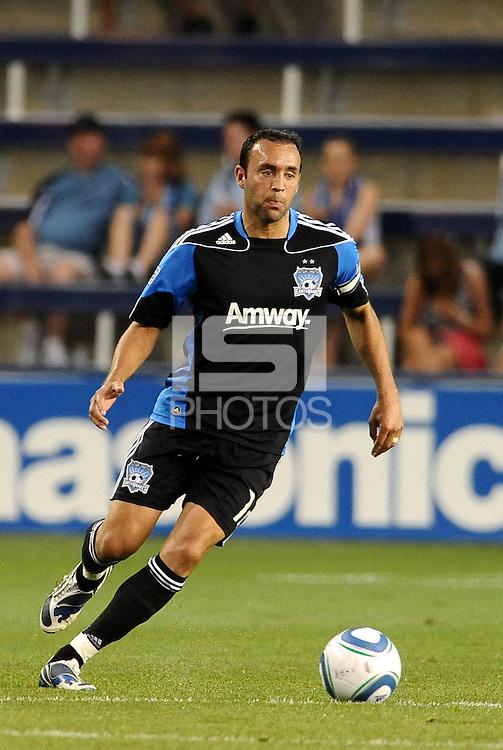 Ramiro Corrales San Jose Earthquakes midfielder in action... Sporting KC defeated San Jose Earthquakes 1-0 at LIVESTRONG Sporting Park, Kansas City, Kansas.