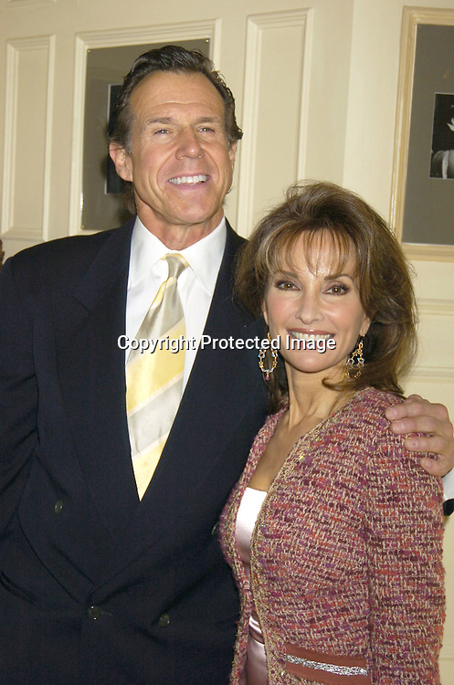 Bill Boggs and Susan Lucci ..at a Centennial  luncheon at the Friars Club on March 22, 2005 at which ..Susan Lucci spoke. ..Photo by Robin Platzer, Twin Images