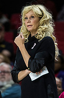 COLLEGE PARK, MD - FEBRUARY 03: Suzy Merchant head coach of Michigan State watches a play during a game between Michigan State and Maryland at Xfinity Center on February 03, 2020 in College Park, Maryland.