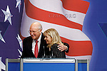 Liz Cheney, daughter of former US Vice-President Dick Cheney, pictured during her speech at the CPAC conference in Washington DC. Photo by Trevor Collens.