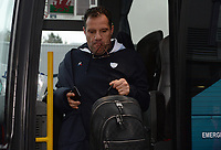 Racing 92 Head coach Laurent Labit arrives at Parc y Scarlets ahead of there clash with the Scarlets<br /> <br /> Photographer Ian Cook/CameraSport<br /> <br /> European Rugby Champions Cup - Scarlets v Racing 92 - Saturday 13th October 2018 - Parc y Scarlets - Llanelli<br /> <br /> World Copyright &copy; 2018 CameraSport. All rights reserved. 43 Linden Ave. Countesthorpe. Leicester. England. LE8 5PG - Tel: +44 (0) 116 277 4147 - admin@camerasport.com - www.camerasport.com